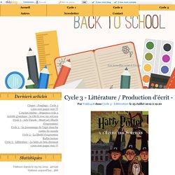 Cycle 3 - Littérature / Production d'écrit - Harry Potter à l'école des sorciers - Twins PE
