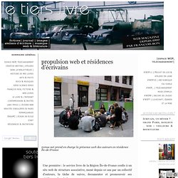 propulsion web et résidences d'écrivains