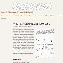 N° 32 – LITTÉRATURE DE JEUNESSE