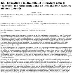 Education à la diversité et littérature pour la jeunesse : les représentations de l'enfant noir dans les albums illustrés