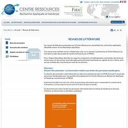 Revues de littérature - Centre Ressources : recherches sur le handicap
