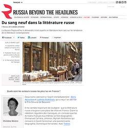 Du sang neuf dans la littérature russe