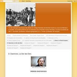 Littérature et société 2013: D. Daeninckx, Le Der des Ders