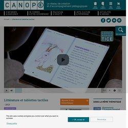 Littérature et tablettes tactiles - Réseau Canopé