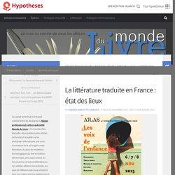 La littérature traduite en France : état des lieux – Monde du Livre