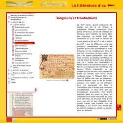 La littérature d'oc - Jongleurs et troubadours