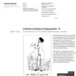 Littérature érotique et typographie – 3