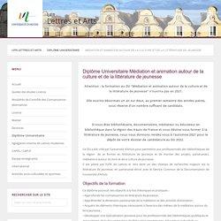 Médiation et animation autour de la culture et de la littérature de jeunesse - Diplôme Universitaire - UFR Lettres et Arts