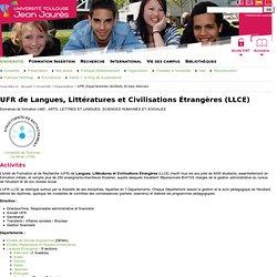 Université Toulouse - Jean Jaurès - UFR de Langues, Littératures et Civilisations Étrangères (LLCE)