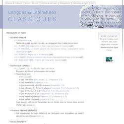 ULg - Langues & littératures classiques