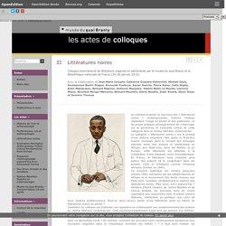 Littératures noires - Musée du quai Branly (département de la recherche et de l'enseignement)