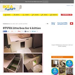 STUVA litterbox for 4 kitties - IKEA Hackers