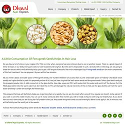 A Little Consumption Seeds Helps In Hair Loss
