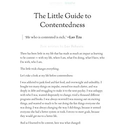 » The Little Guide to Contentedness