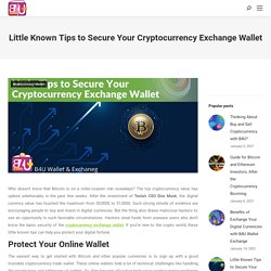 Little Known Tips to Secure Your Cryptocurrency Exchange Wallet - Blog B4U Wallet