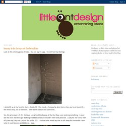 little ant design: beauty is in the eye of the beholder