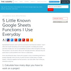 5 Little Known Google Sheets Functions I Use Everyday