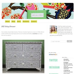 DIY Inlay Dresser