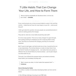 7 Little Habits That Can Change Your Life, and How to Form Them