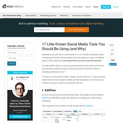 17 Little Known Social Media Tools You Should Be Using (and Why)