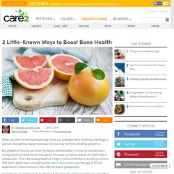 3 Little Known Ways To Boost Bone Health