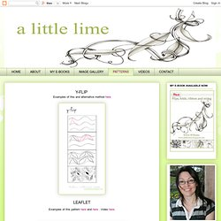 a little lime: Step-by-steps & patterns