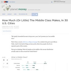 How Much (Or Little) The Middle Class Makes, In 30 U.S. Cities : Planet Money