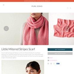 Little Mitered Stripes Scarf