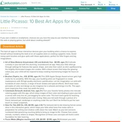 Little Picasso: 10 Best Art Apps for Kids