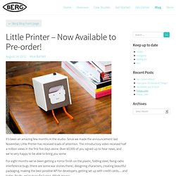 Little Printer – Now Available to Pre-order!