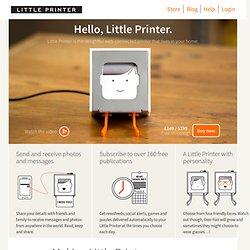 Little Printer | BERG Cloud
