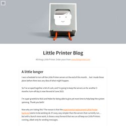 Little Printer Blog