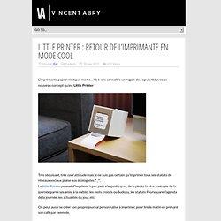 Little Printer : retour de l'imprimante en mode cool