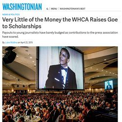 Very Little of the Money the WHCA Raises Goes to Scholarships