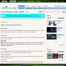 Level Creator Guide - The LittleBigPlanet Wiki - LittleBigPlanet