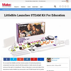 LittleBits Launches STEAM Kit For Students