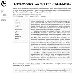Littlewood's Law and the Global Media · Gwern.net
