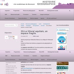 2G-Le littoral aquitain, un espace fragile.