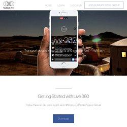 Live 360 – Facebook 360 Video