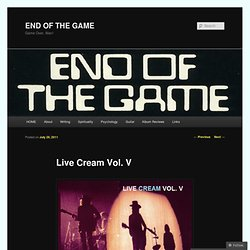 Live Cream Vol. V | END OF THE GAME