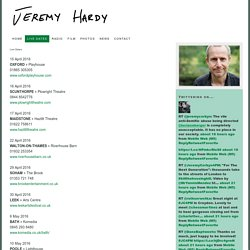 Live Dates — Jeremy Hardy
