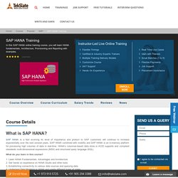 Sap Hana Online Training Course