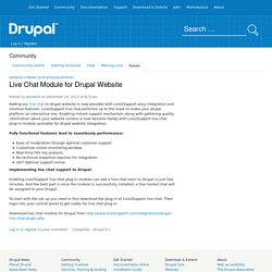 Live Chat Module for Drupal Website