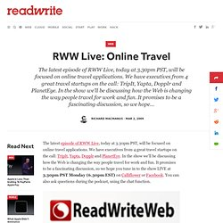 RWW Live: Online Travel - ReadWriteWeb