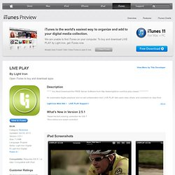 LIVE PLAY for iPad on the iTunes App Store