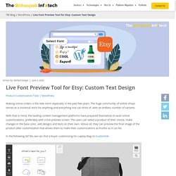 Live Font Preview Tool for Etsy: Custom Text Design