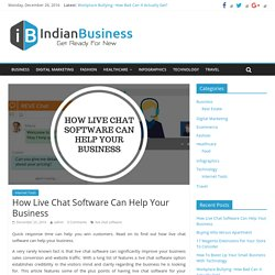 How Live Chat Software Can Help Your Business