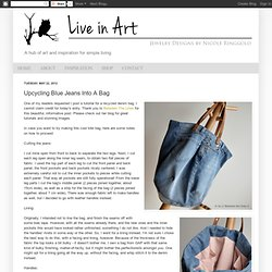 Upcycling Blue Jeans Into A Bag