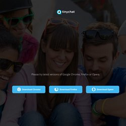 Live video chat rooms, simple and easy.