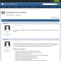 Live2Support Live Chat Addon - Add-Ons Development